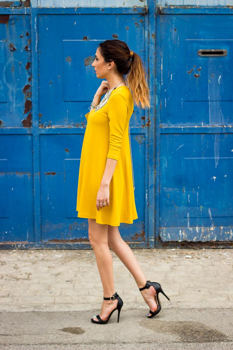 mustard perfect dress