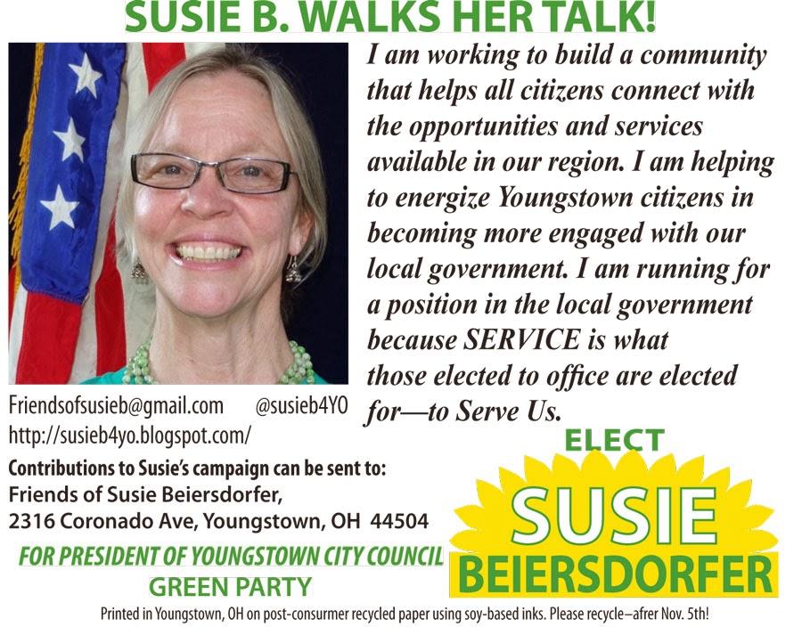 SUSIE B WALKS HER TALK!