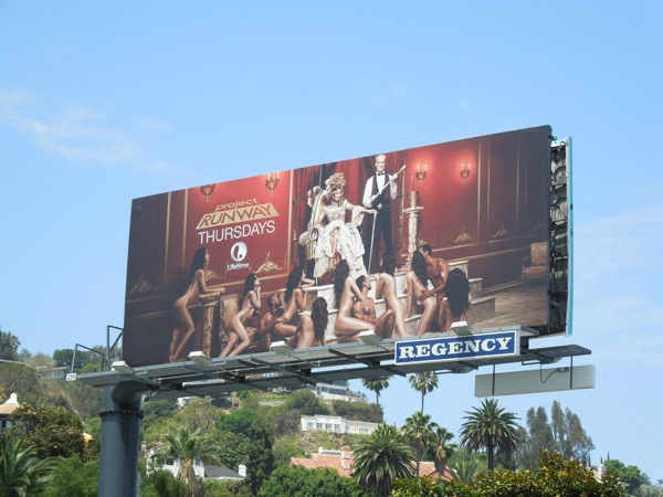 Raunchy Project Runway season 12 billboard