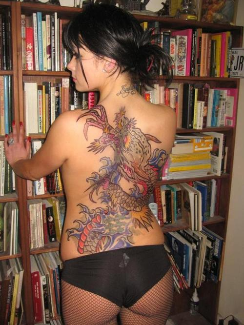 Women Back Piece Japanese Dragon Tattoo Picture 2