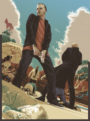 Breaking Gifs Limited Edition Breaking Bad Screen Prints - The Mexican Shootout by Rich Kelly