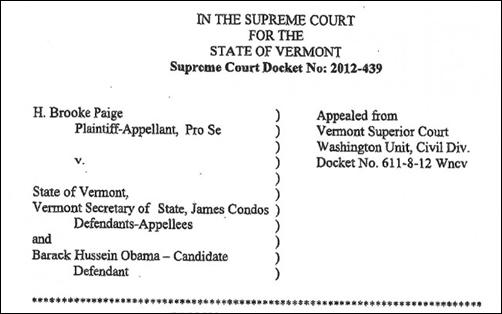 Vermont Obama Eligibility Challenge: Judge Robert Bent Torpedoed