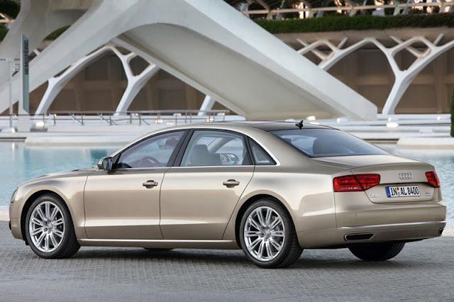 2012 Audi A8 L W12 Back Exterior
