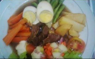 Resep Selat Solo Kentang Wortel Buncis dan Telur Rebus
