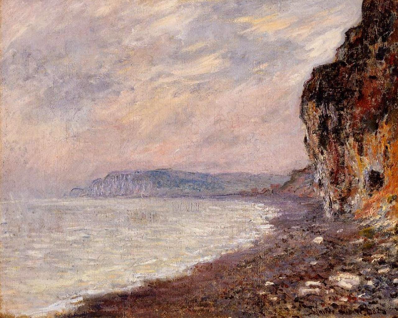 Falaises à Pourville, effet de brouillard (1882)