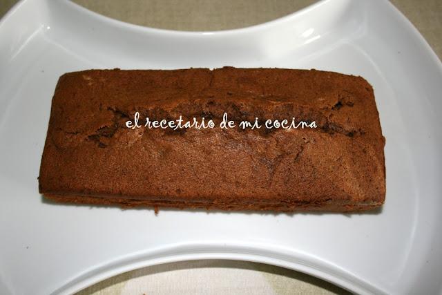 bizcocho de claras al chocolate