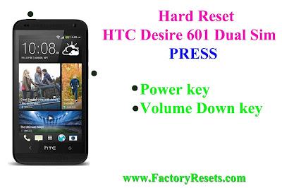 Hard Reset HTC Desire 601 Dual Sim