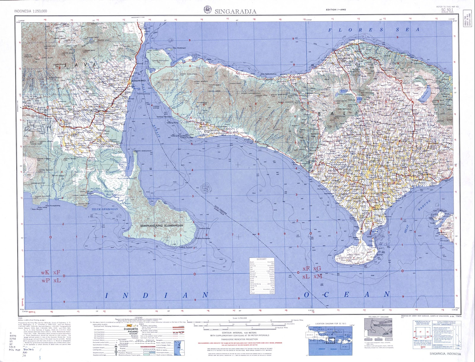 Amazing indonesia bali island topographic map scala 250k following are topographic map of bali island scale 250k there are some city in inside the map such negara tabanan denpasar singaraja semapura thecheapjerseys Choice Image