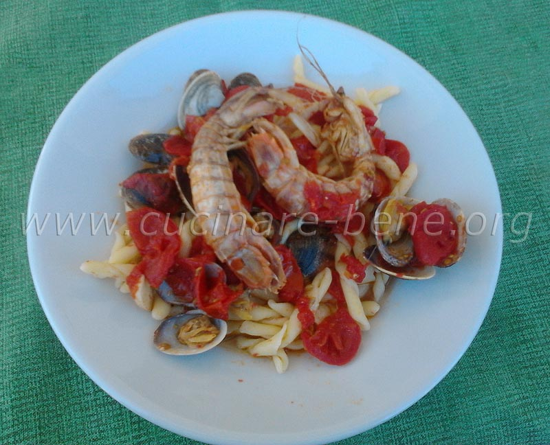 pasta con cicale - cucinare bene   ricette di cucina - Cucinare Le Canocchie