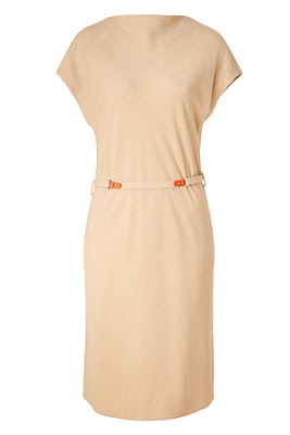 Taupe Short Sleeved Belted Dress