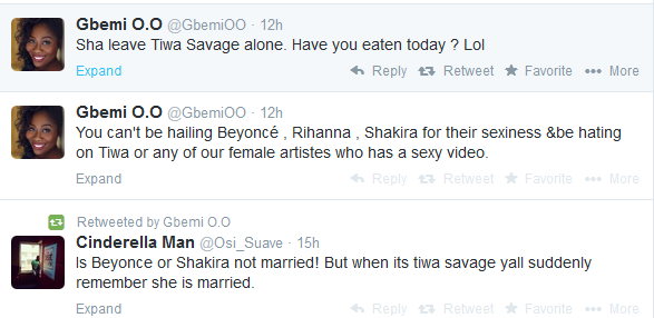 See What Gbemi O Thinks Of Tiwa Savage's New Video