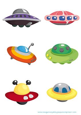 Dibujos de platillos volantes para imprimir