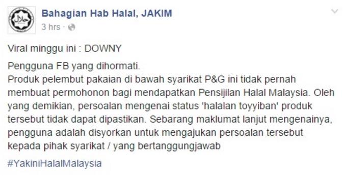 Isu Downy Ada Unsur Babi, Ini Jawapan Downy Malaysia