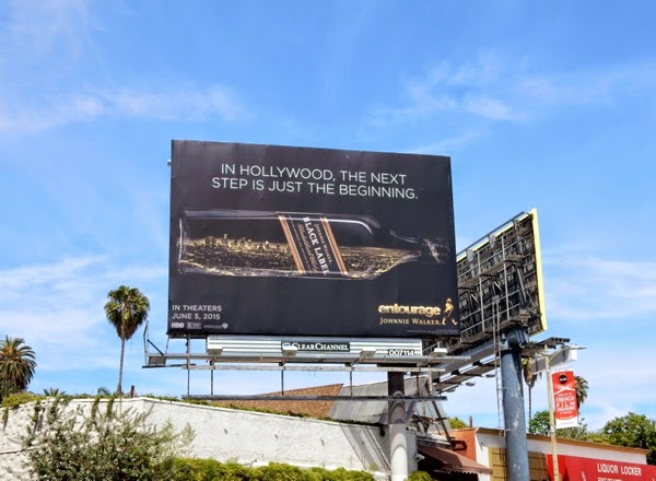 Hollywood next step Johnnie Walker Entourage billboard