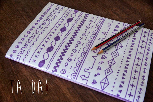 Cool Notebook Cover Designs : Sophie at home quick craft decorate a notebook