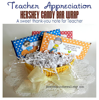 A sweet Treat for Teacher-Special Messages for Teacher on each one