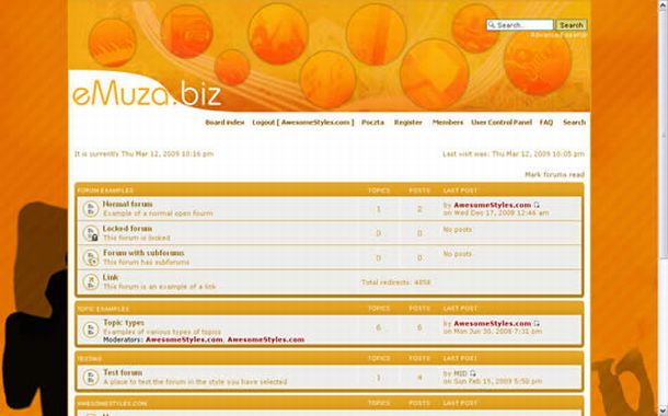 Free Grunge Yellow Orange Php-fusion Theme