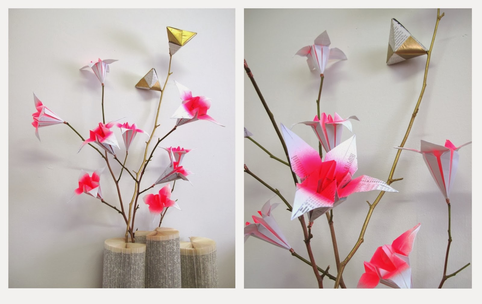 Origami Flower Installation Planning Simple Intrigue