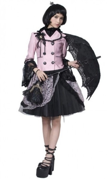 Sweet Pink and Black Lolita Jacket for Women