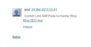 Cara Membuat Link Aktif di Komentar Blog