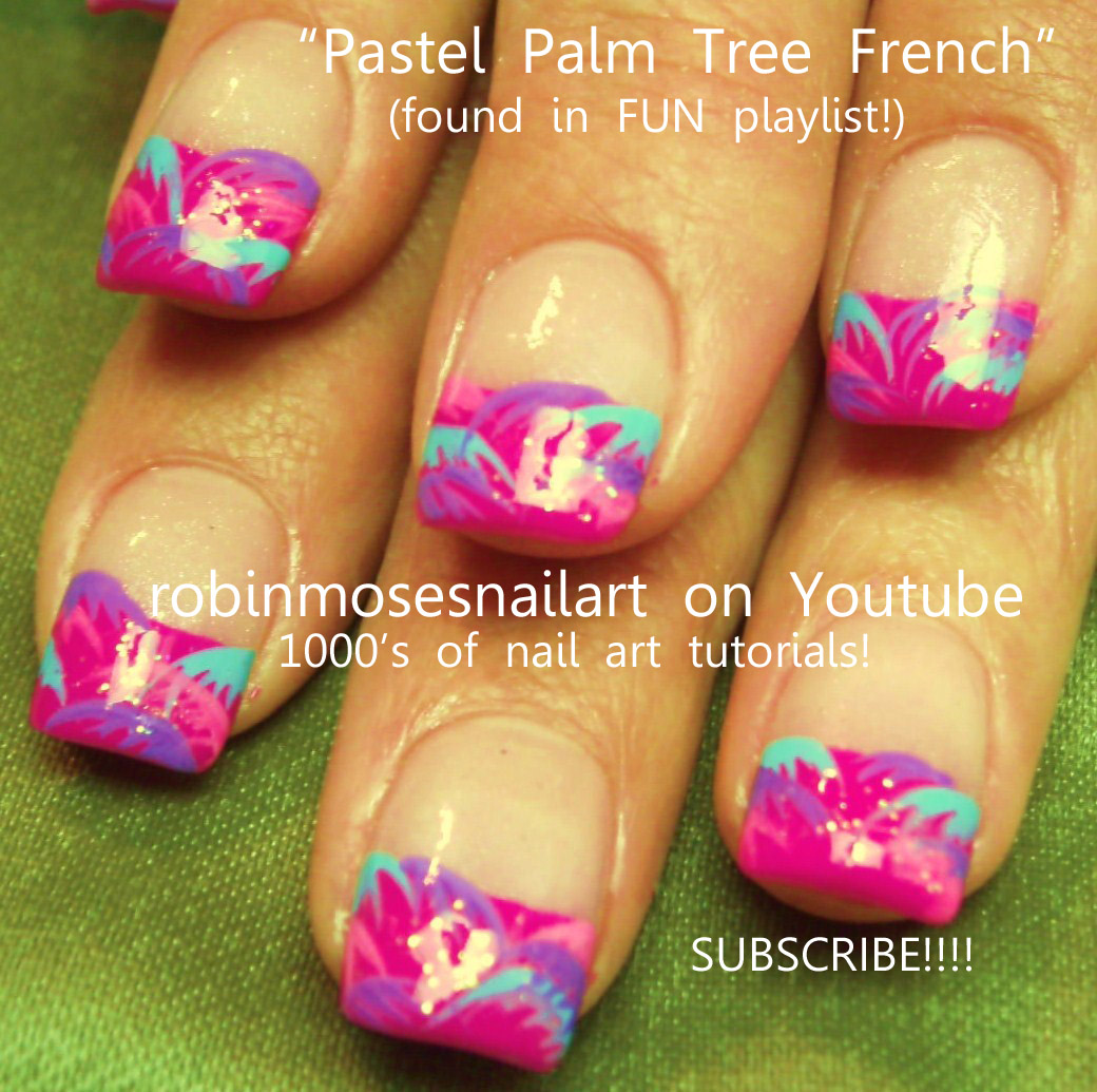 Robin Moses Robinmosesnailart Pastel Palm Trees Country Patchwork Nails Tree Nail Art