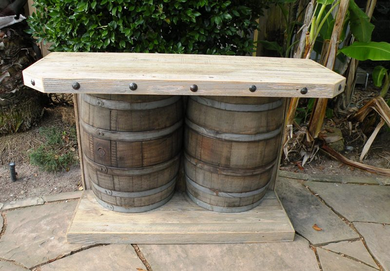 how to make a wine barrel bar