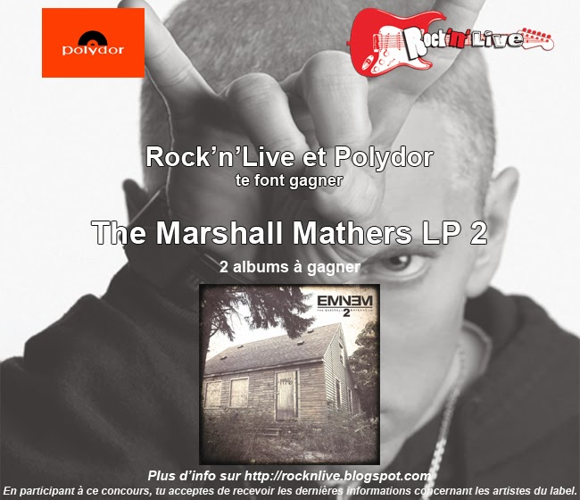 © Concours Rock'n'Live Polydor Eminem the marshall mathers LP 2