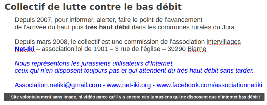 Collectif de lutte contre le bas dbit