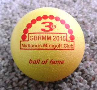 Photo of the Midlands Minigolf Club's Ball of Fame