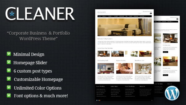 Cleaner - Business Wordpress Theme Free Download by MojoThemes.