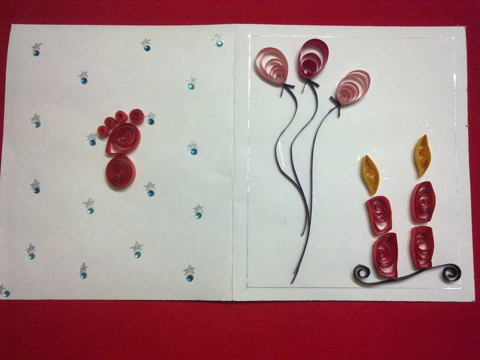 Shweta s Paper Quilling Easy Quilled birthday cards