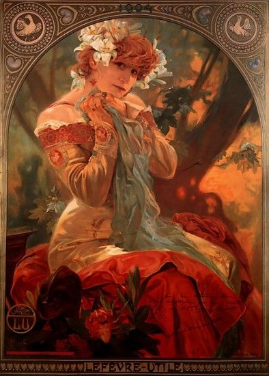 Sarah Bernardt mucha portrait