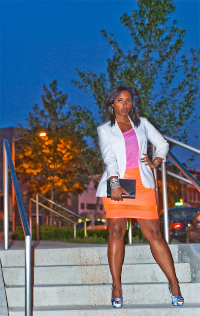 jen on steps%255B1%255D - Orange You Jealous? I'm rockin a Brittany DeShields Original