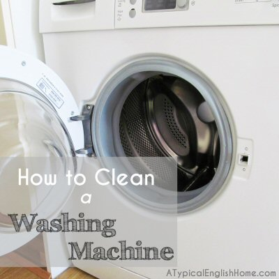 A Typical English Home How To Clean A Washing Machine