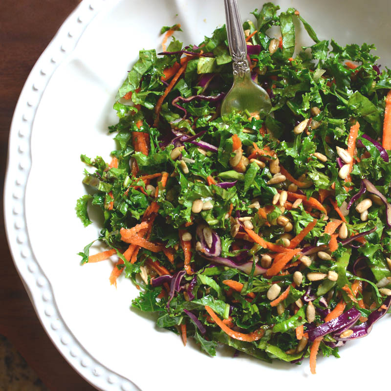 Kale Salw with Balsmaic Vinaigrette