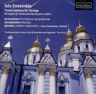 Isis Ensemble - Transcriptions for Strings - Jacques Cohen - Meridian