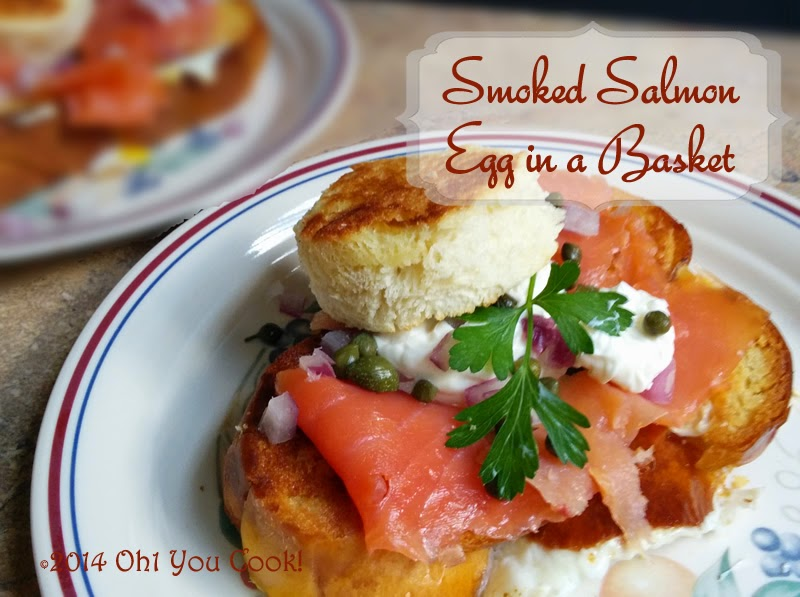 smoked salmon egg in a basket (egg in a hole) - src
