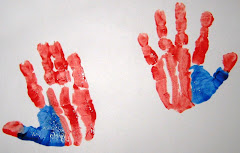 4th of July Handprint for our center piece