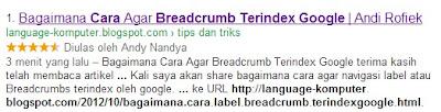 cara mudah label terindex google
