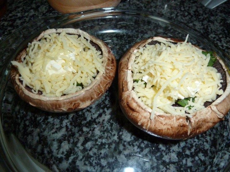 Cogumelos com queijo no forno