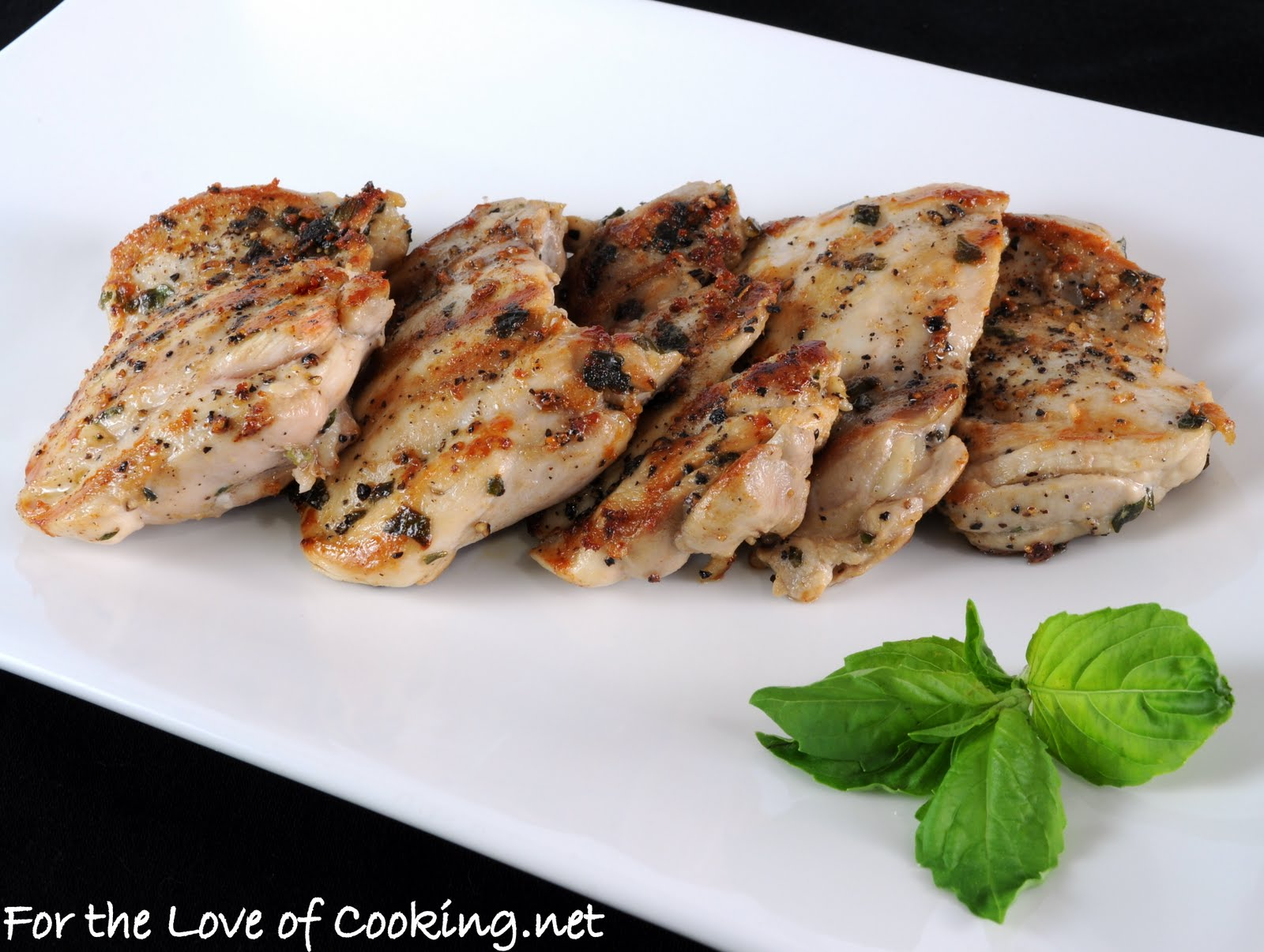 Basil Marinated Chicken Thighs | For the Love of Cooking