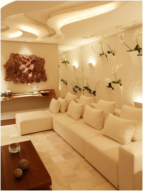 BEIGE LIVING ROOM DESIGN | Living and Dining