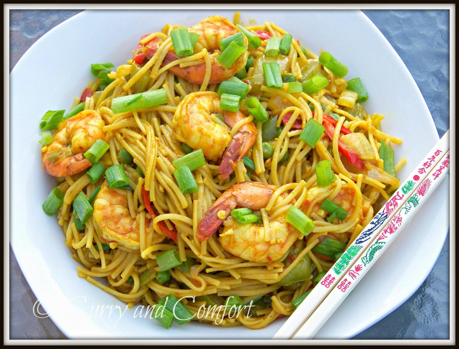 Kitchen Simmer: Singapore Noodles with Shrimp