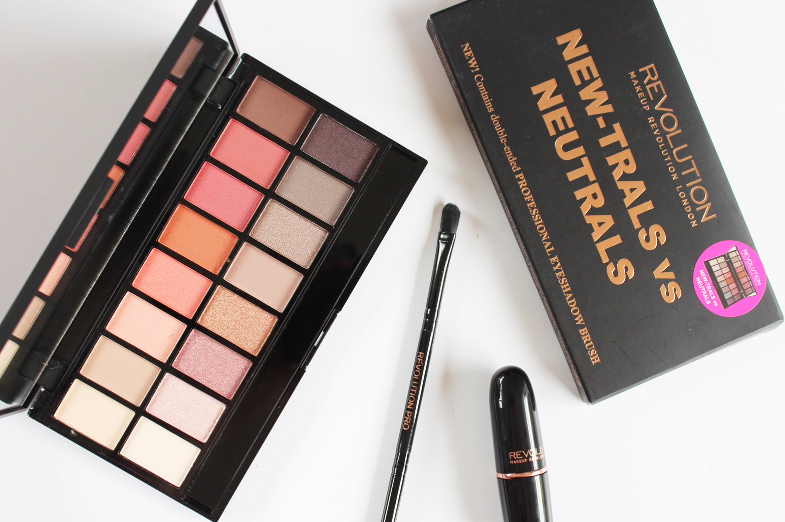 MAKEUP REVOLUTION | New-Trals Vs. Neutrals Professional Eyeshadow Palette - Review + Swatches - CassandraMyee