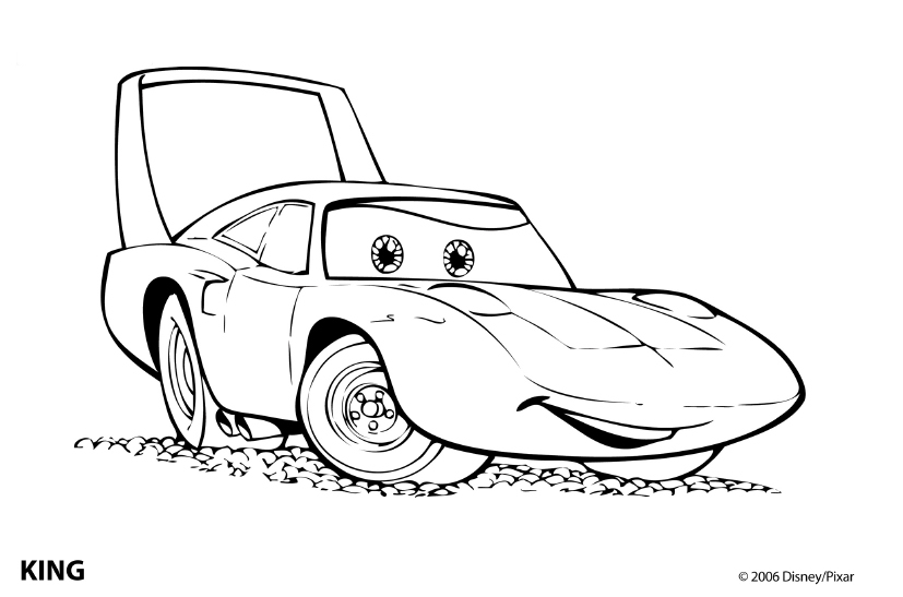 Pixar Cars Color Coloring Coloring Pages