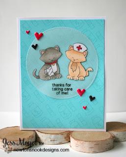 Nurse Appreciation Card by Jess Crafts featuring Newton's Nook Designs Newton's Sick Day