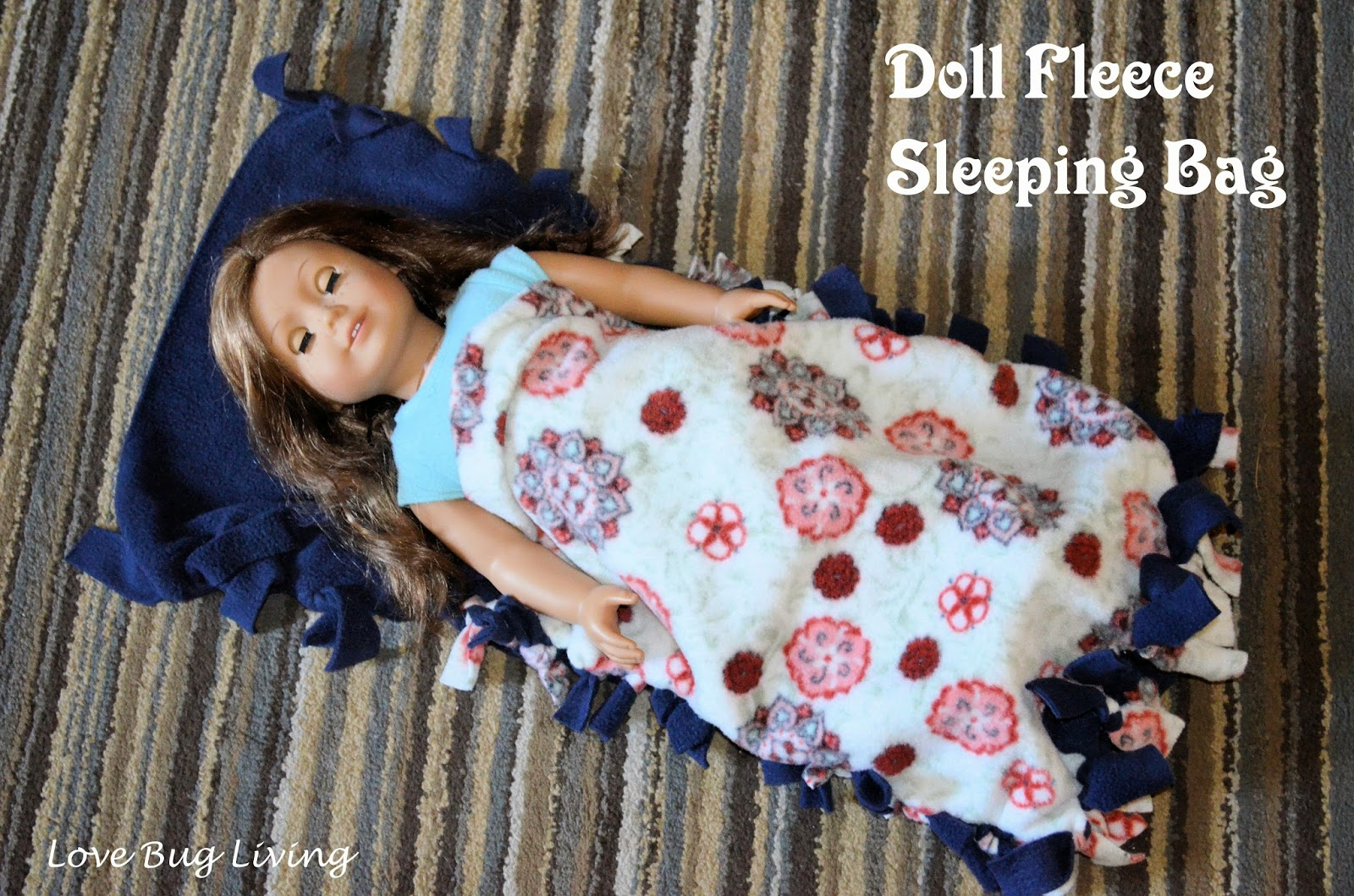 Love Bug Living Sleepover Craft Party With American Girl Fleece Sleeping Bags