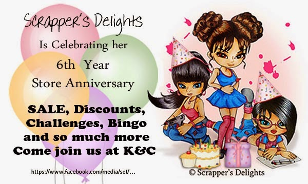 Scrappers Delight birthday celebration