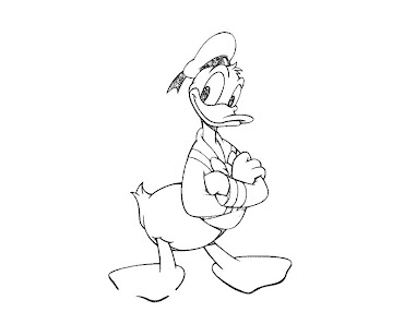 #24 Donald Duck Coloring Page