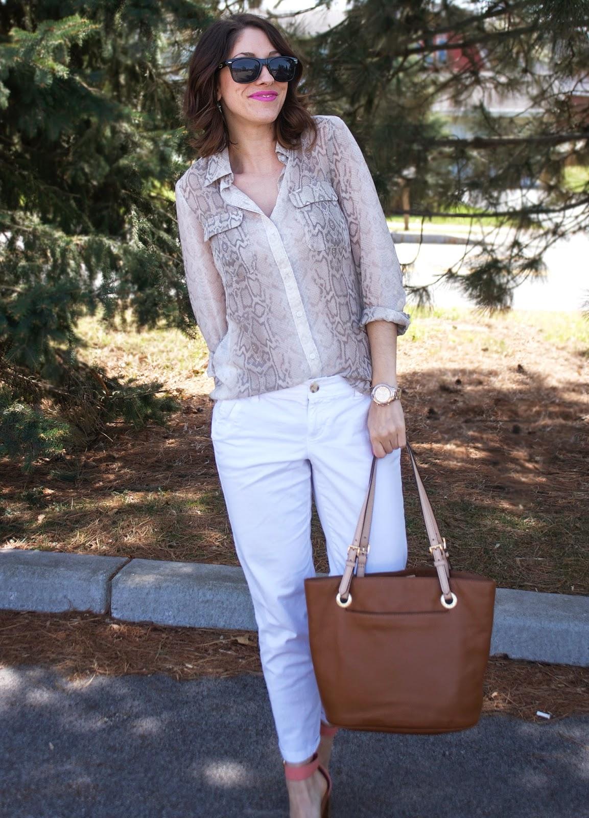 spring style, snakeskin, boyfriend jeans